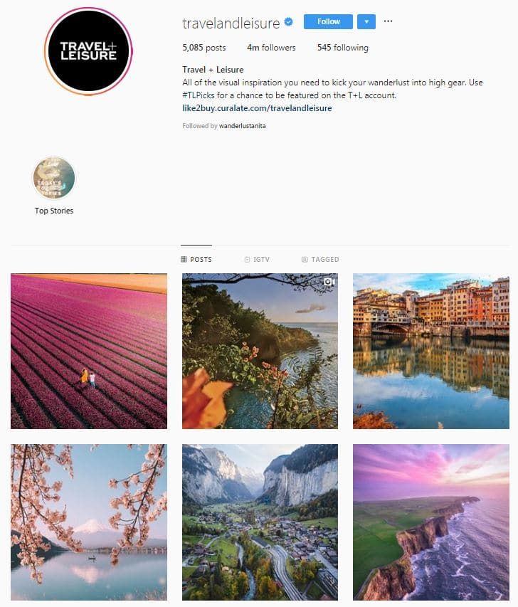 Instagram Accounts That Feature Travel photos-travelandliesure