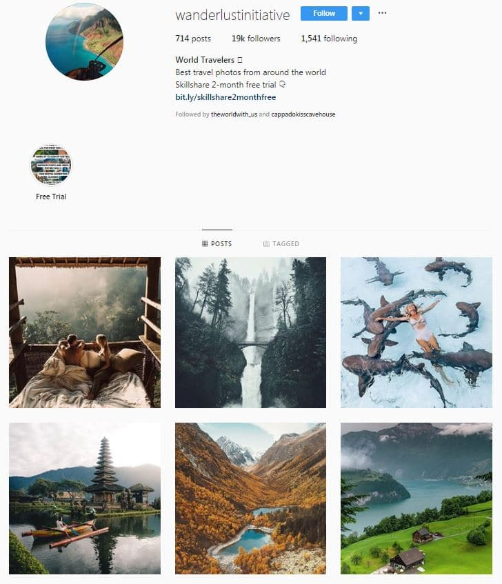Instagram Accounts That Feature Travel photos- wanderlustinitiative