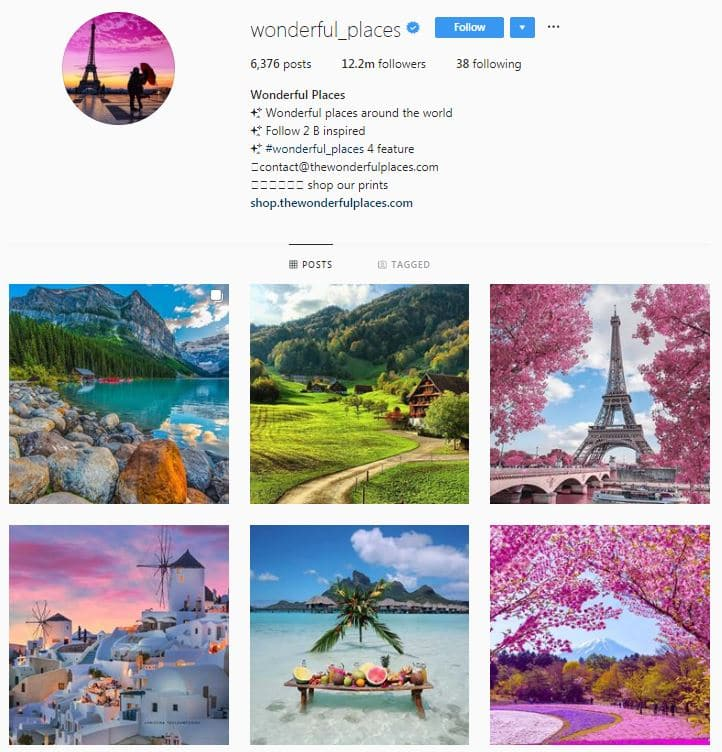 Instagram Accounts That Feature Travel photos-wonderfulplaces