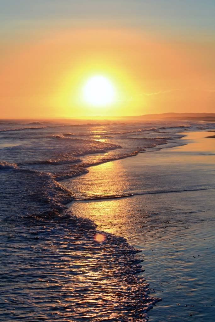 Sunset at Birubi Beach in Port Stephens