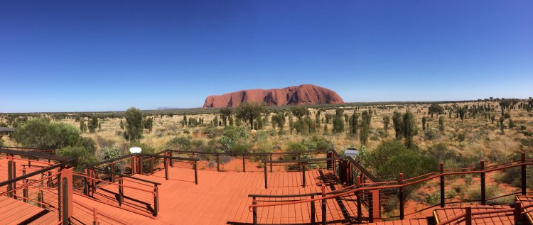 Uluru sunrise viewing platform