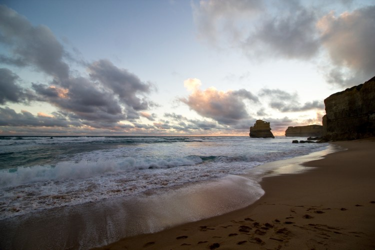 Sunset at Gibson steps on the Great Ocean Road