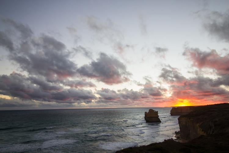 The Great Ocean Road sunset