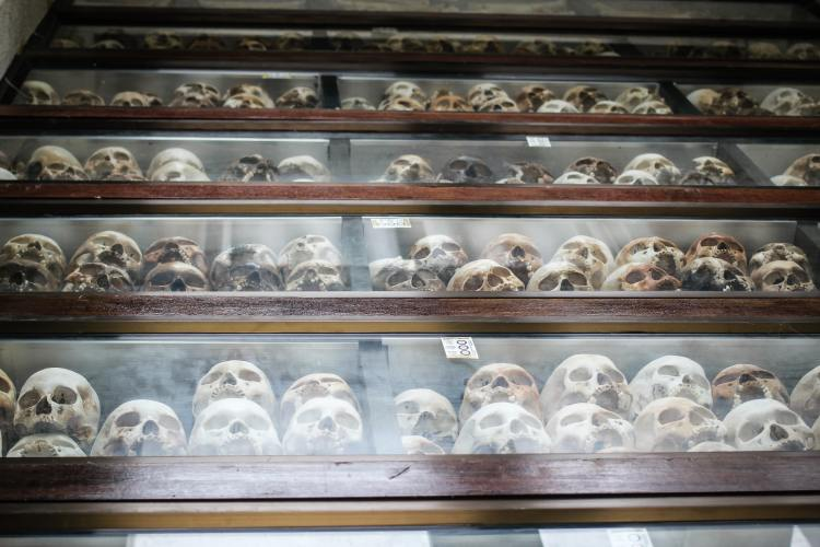 Cambodian Killing Field - Choeug Ek and S21 - stories of skulls