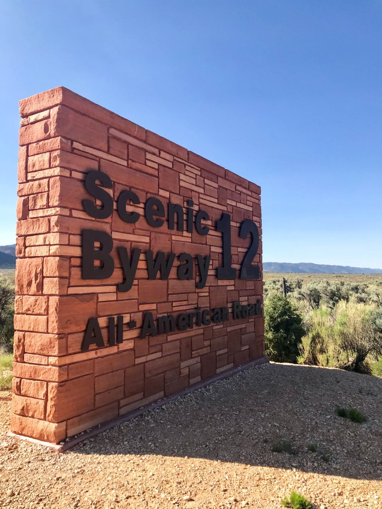 Scenic Byway 12 highway sign