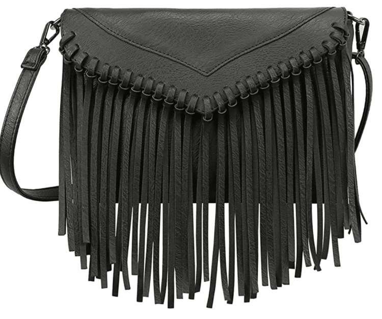 fall fringe crossbody bag