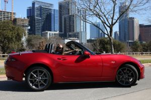 Roger Beasley Mazda Miata - Chelsea Bancroft article for Austin Woman Magazine