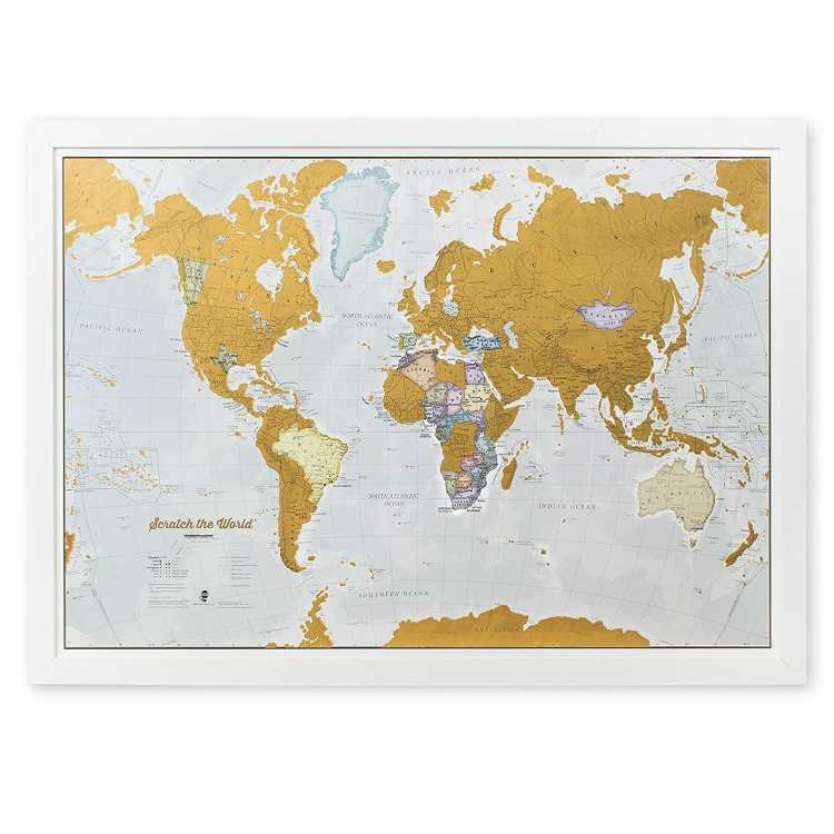 gift ideas for women Scratch Off World Map Poster