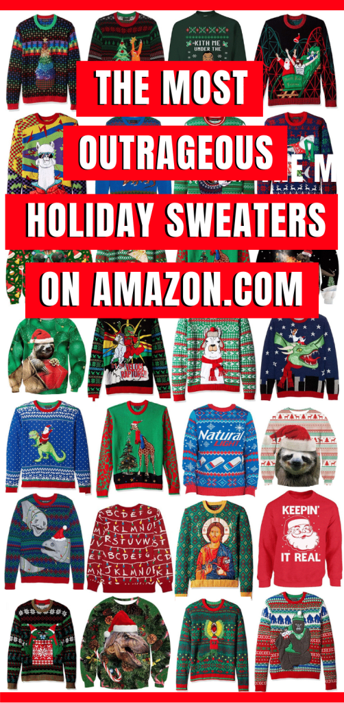 The Best Ugly and Outrageous Holiday Sweaters on Amazon - Ugly Funny Christmas Sweaters