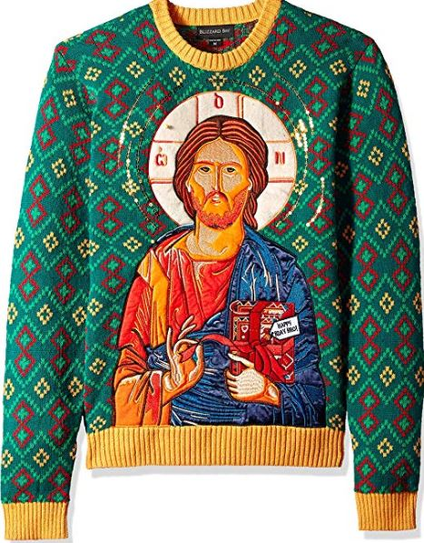 Best Ugly Holiday Sweaters on Amazon: Jesus Birthday Gift Sweater