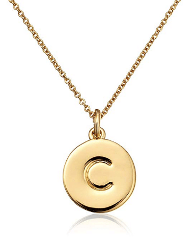 gifts for women Kate Spade New York Gold-Tone Alphabet Pendant Necklace