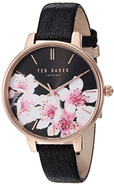 womens watch gift Ted Baker Women's 'Kate' Quartz Stainless Steel and Leather Dress Watch.