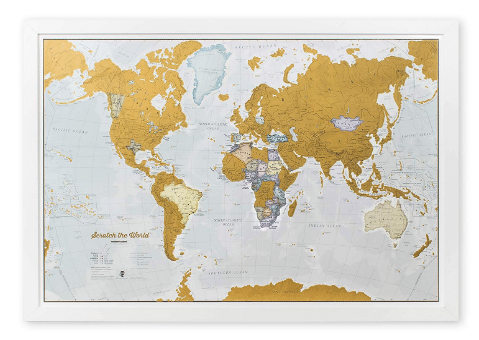 gifts for travelers: Scratch Map of the World