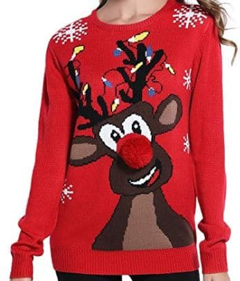 Best Ugly Christmas Holiday Sweaters on Amazon: Classic Reindeer Holiday Sweater