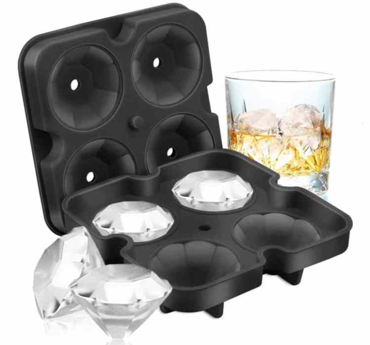 Stocking Stuffers for Women: Diamond-Shaped Ice Cube Molds