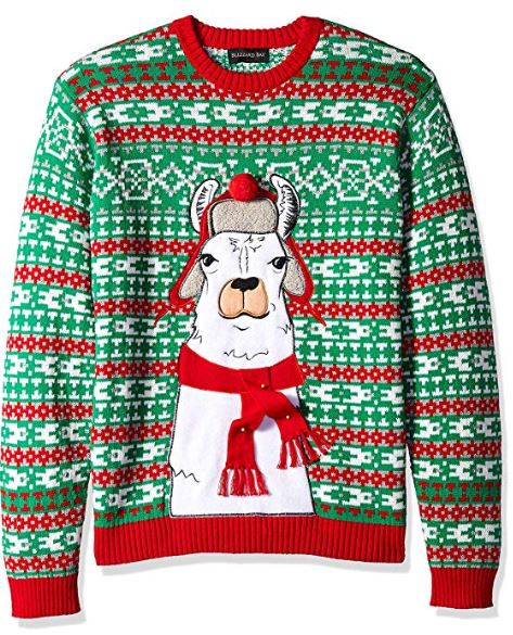 Best Ugly Christmas Holiday Sweaters on Amazon: Llama Ugly Christmas Sweater
