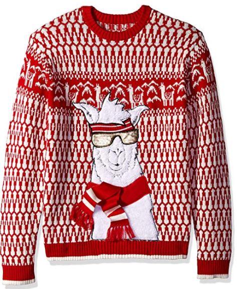 Best Ugly Christmas Holiday Sweaters on Amazon: Llama Ugly Christmas Sweater