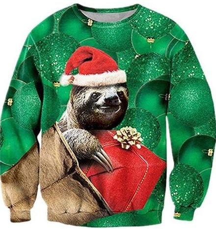 Best Ugly Christmas Holiday Sweaters on Amazon: Sloth