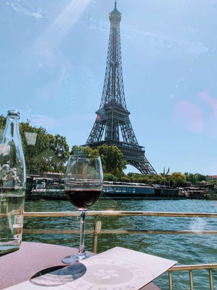 Bateaux Parisiens Seine River Cruise Eiffel Tower View
