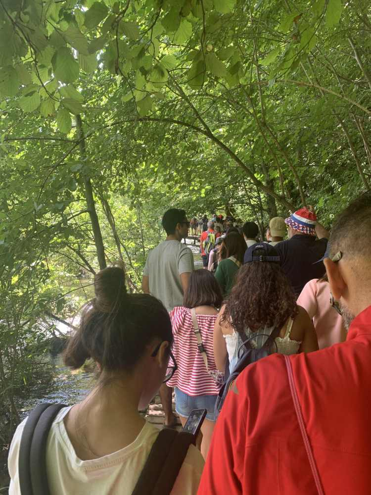 Plitvice Lakes crowded in summer