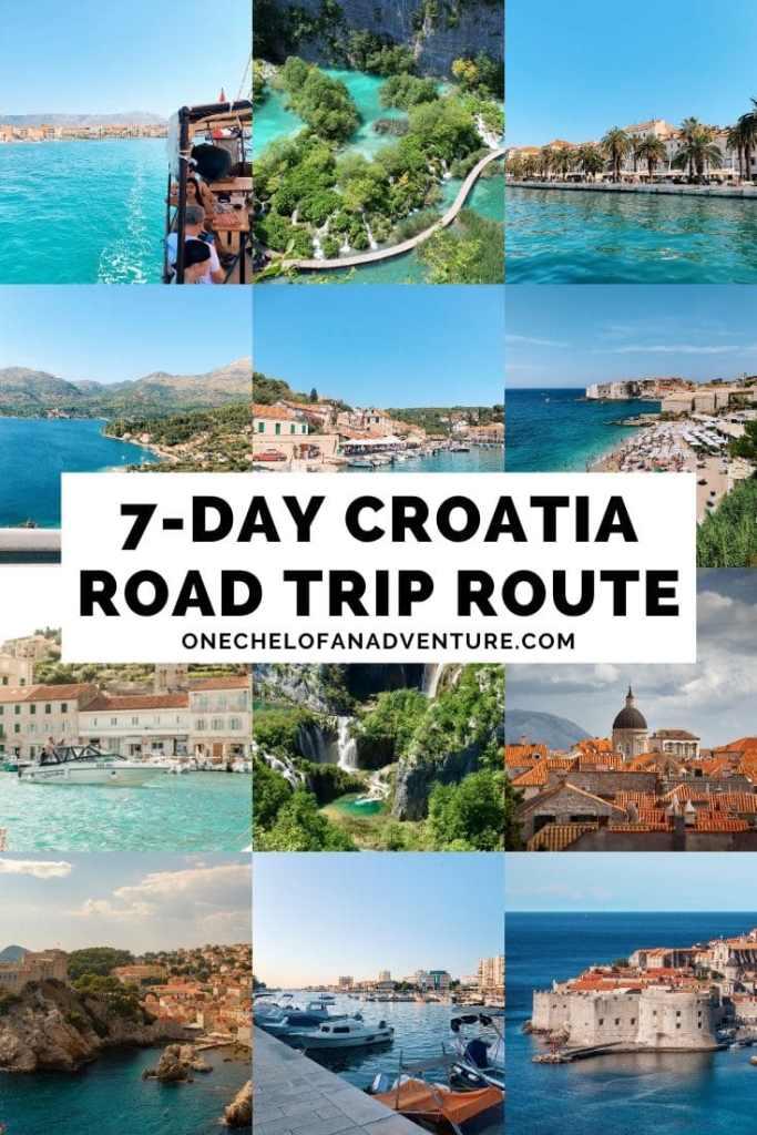 1 week Croatia Road Trip Route