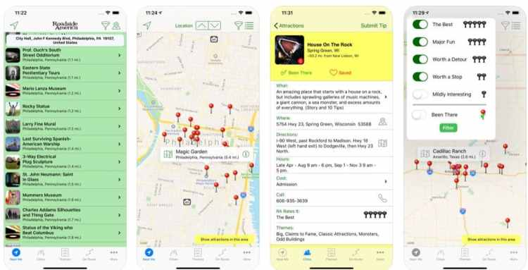 road trip apps - roadside attractions