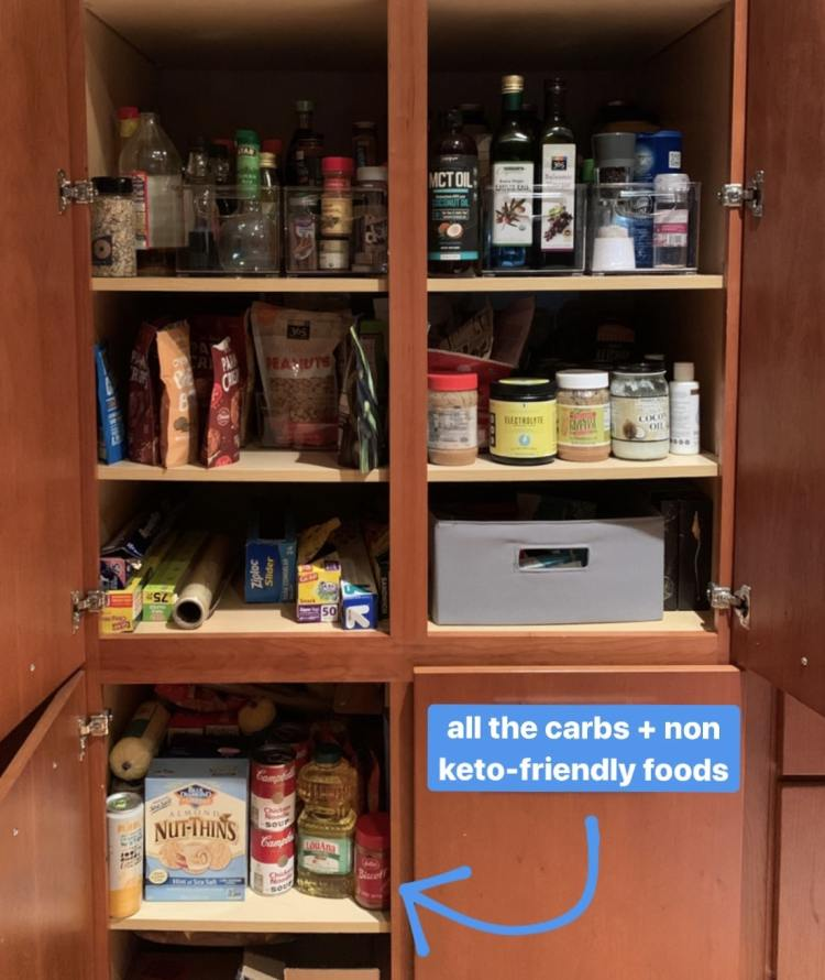 reorganize pantry for stating keto