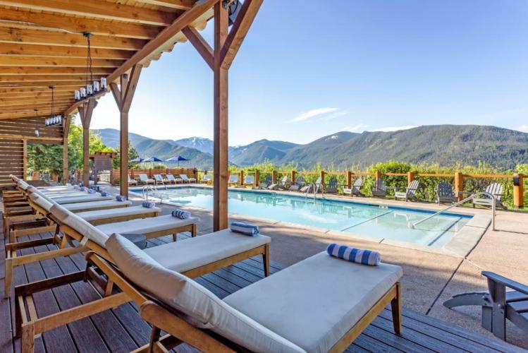 Pool overlook at Grand lake lodge