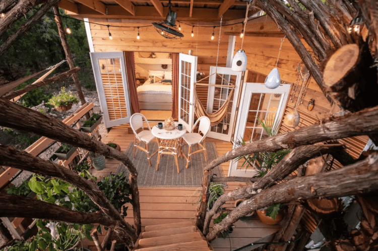 The Nest Treehouse Airbnb Texas