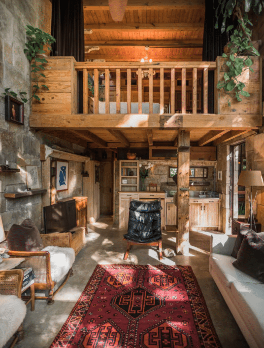 tree house rental interior texas