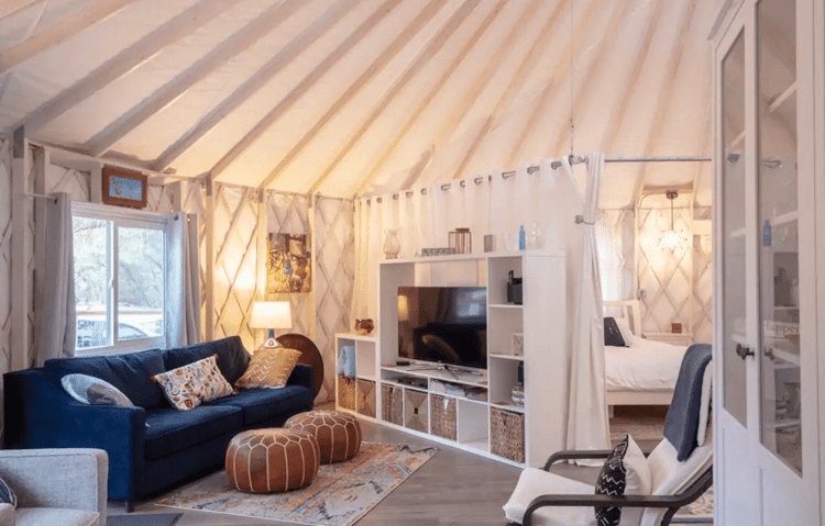Inside Luxury Yurt Airbnb