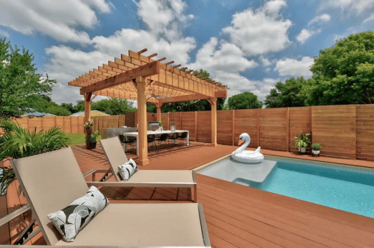 ATX bachelorette party airbnb with pool
