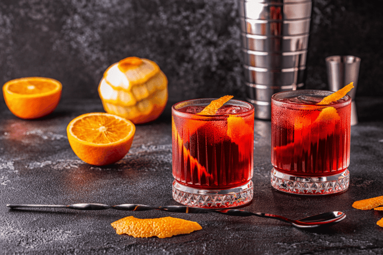 Negroni cocktail from Italy