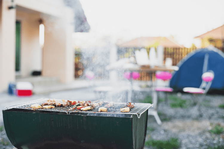 grilling while glamping