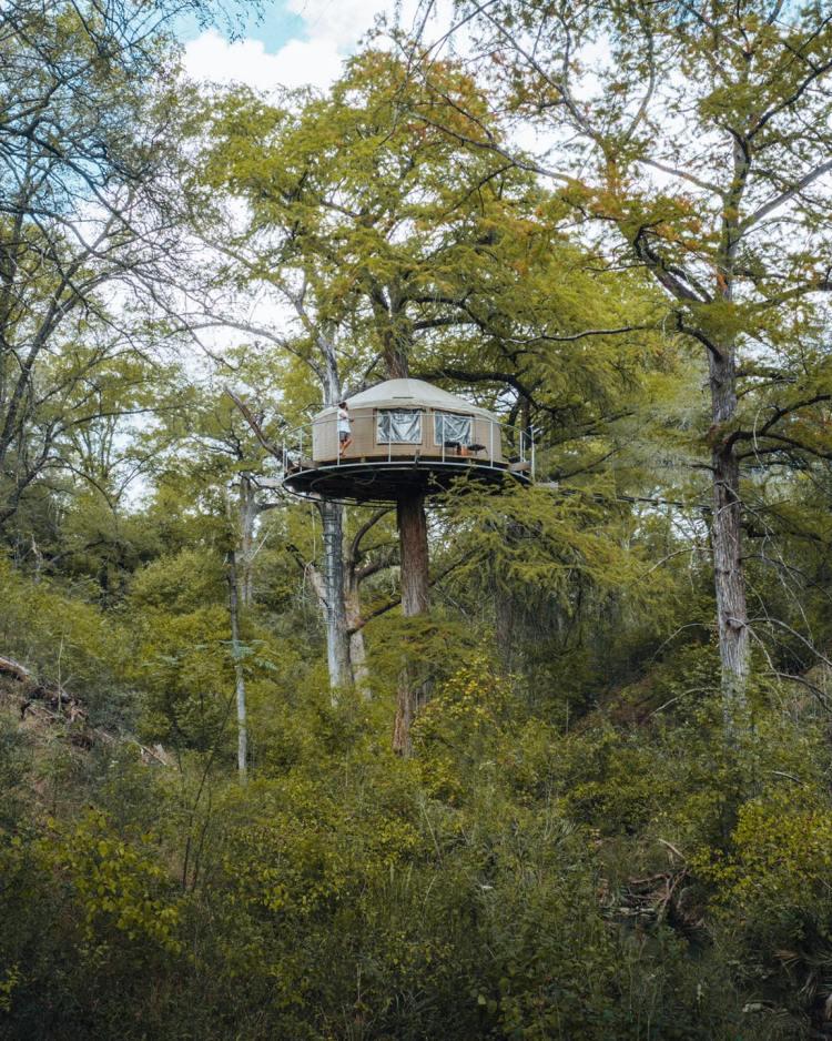 Lofthaven Treehouse Yurt in Texas