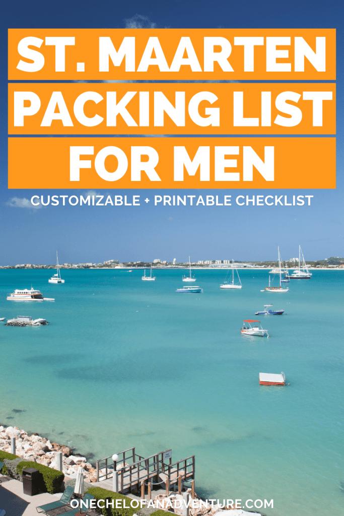 St. Maarten Packing list for Men