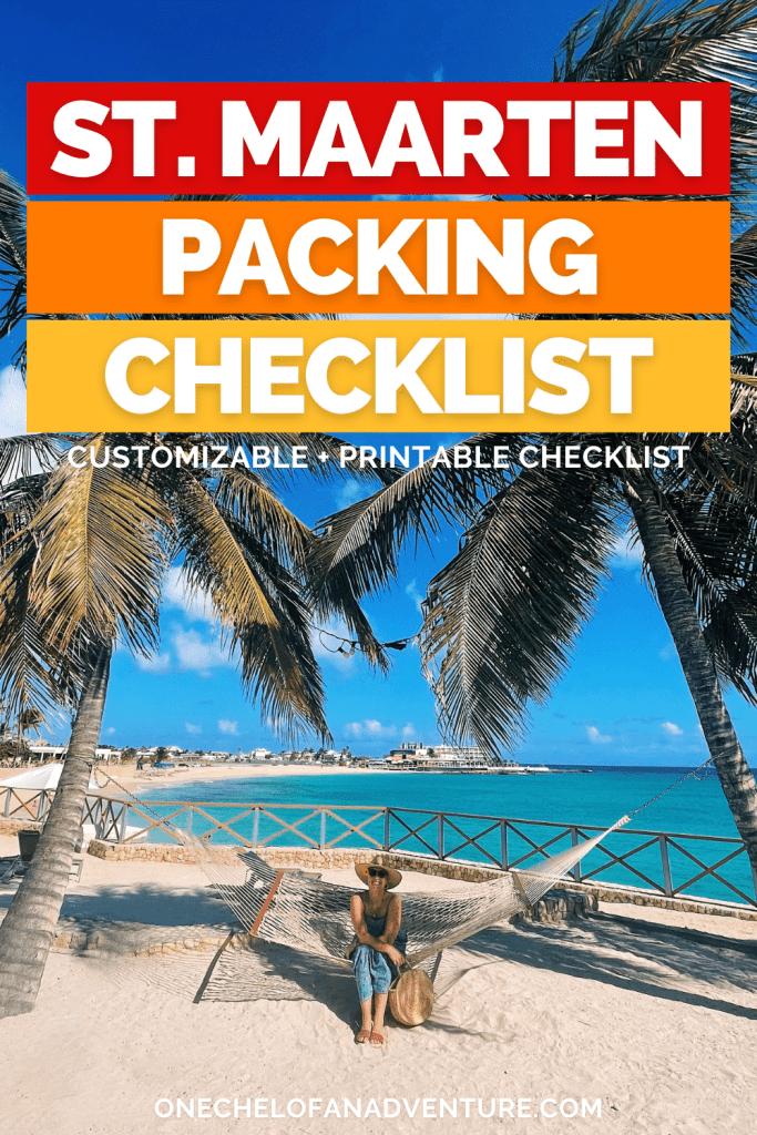 St. Maarten Packing List - printable