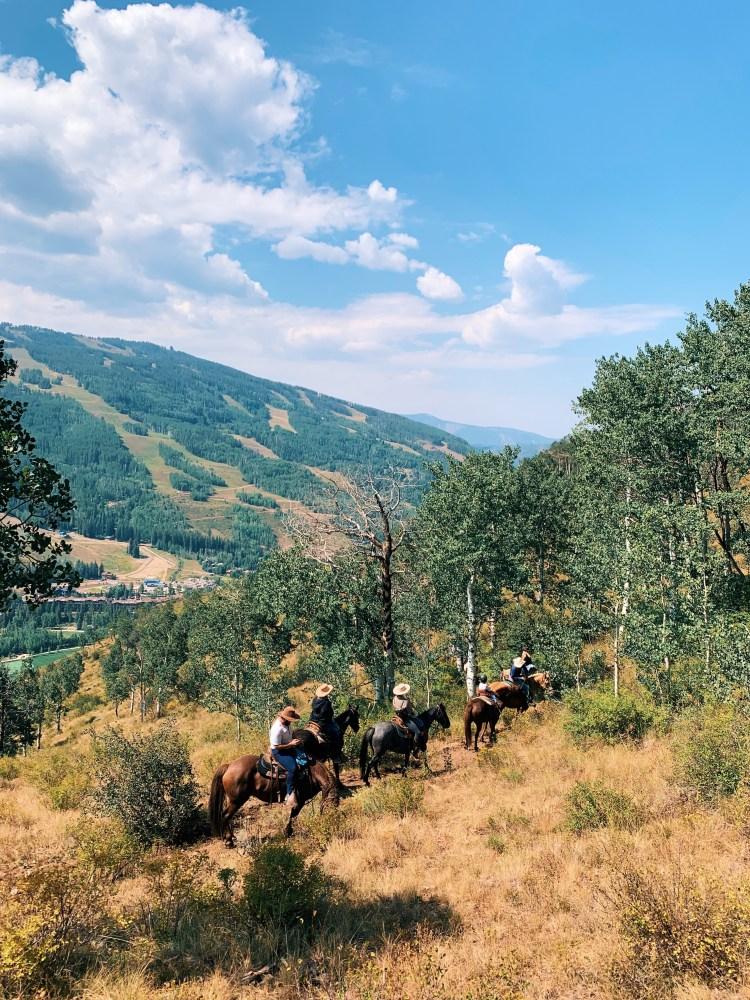 Vail Colorado in Summer - horseback ride
