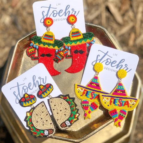 cute Fiesta Bachelorette Party earrings