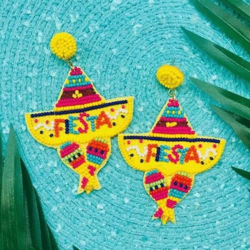Fiesta Bachelorette Party earrings