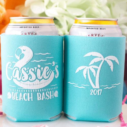 tropical Beach Bachelorette Party koozie