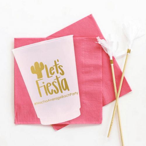 lets fiesta napkins for Fiesta Bachelorette Party