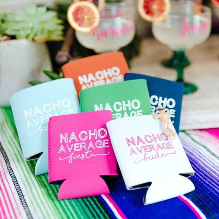 nacho average bride koozies - Fiesta Bachelorette Party