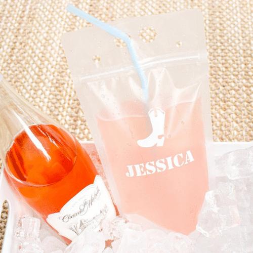 western bachelorette party ideas - drink pouch