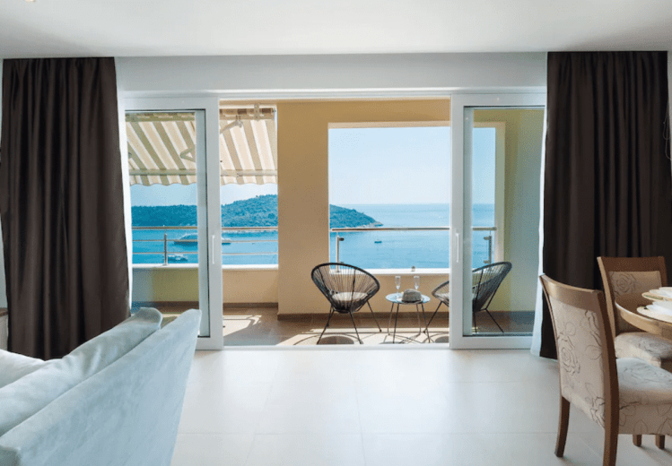Dubrovnik Airbnb with view of ocean and old town