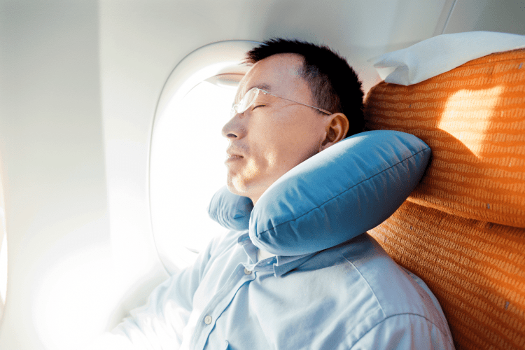sleeping on the plane to help with Jet lag