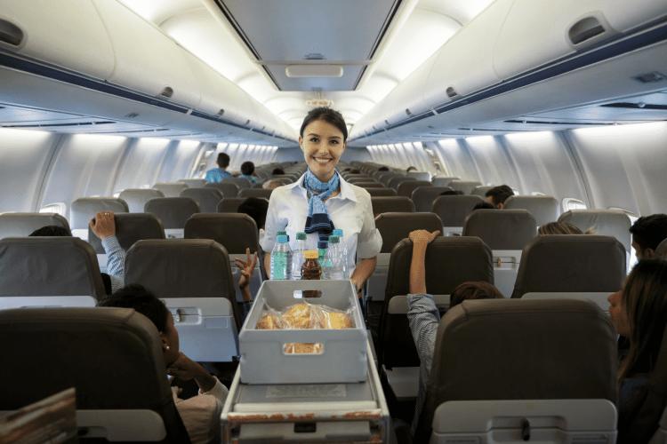 How to Sleep Better on a Plane - alert attendant