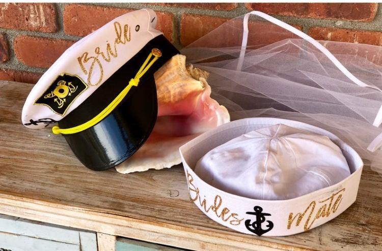 Nautical Bachelorette Party Ideas - captain hats