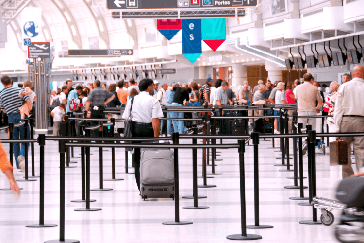 What To Do Before a Flight - check airport lines