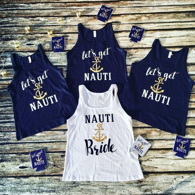 Nautical Bachelorette Party Ideas - get nauti bride